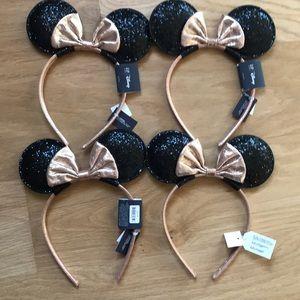 Gap Kids Minnie Rose Gold Ears headband lot of 4